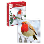 Traditional Christmas Cards Robin Bird