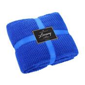 Luxury Popcorn Throw Blue 150 x 200cm