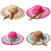 Ladies Summer Hat with Stripe