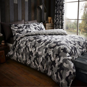 Incognito Grey Camouflage Duvet Set