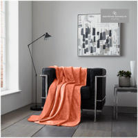 Coral Flannel Sherpa Throw