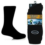 Mens Brushed Winter Thermal Socks Black
