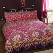 Asha Duvet Set Ruby