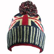 Union Jack Bobble hat