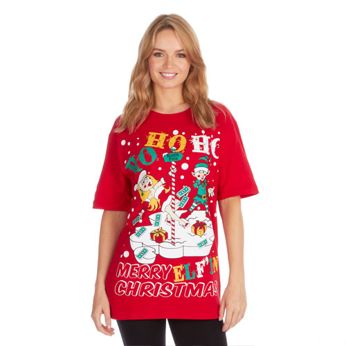 Christmas T-Shirt Red HoHoHo