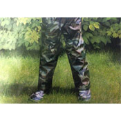 Kids Showerproof Camo Trousers
