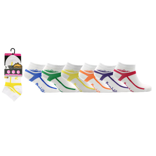 Ladies ProHike 3 Pack Trainer Socks Middle Stripe