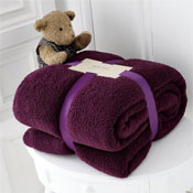 Luxurious Super Soft Teddy Throw Aubergine