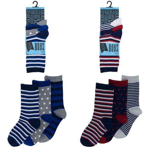 Boys Assorted Design Socks