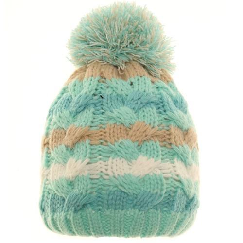 Babies Stripey Bobble Hat