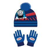 Thomas & Friends Childrens Bobble Hat & Gloves Set