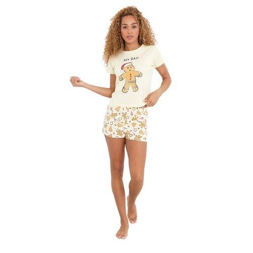 Ladies Gingerbread Short Pyjama Set