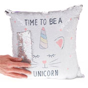 Time To Be A Unicorn Sequin Filled Cushion