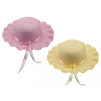 Girls Summer Hat With Ribbon