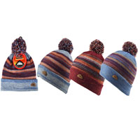 Mens Heat Machine Pom Pom Hat Space Dyed