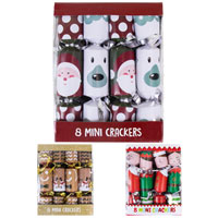 Mini Christmas Crackers 8 Pack