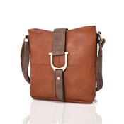 Ladies Audrey Bucket Crossbody Bag Tan