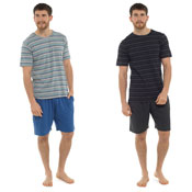 Mens Short Stripe Print Lounge Set