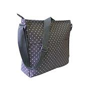 Mini Polka Dot Crossbody Bag Grey