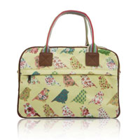Birds And Flowers Day Bag Beige