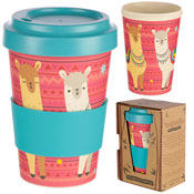 Llama Reusable Screw Top Bamboo Travel Cup