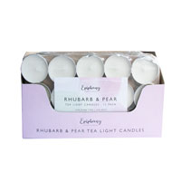 Rhubarb & Pear Scented Tea Lights 15 Pack