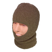 Open Face Balaclava Thinsulate Olive