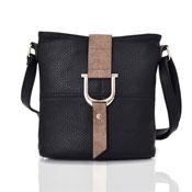 Ladies Audrey Bucket Crossbody Bag Black