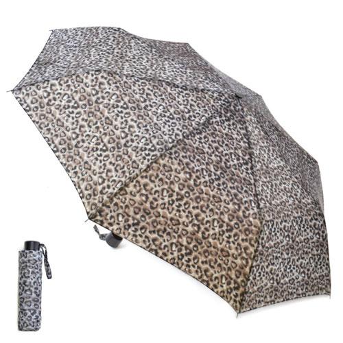 Ladies Leopard Print Wind Resistant Umbrella