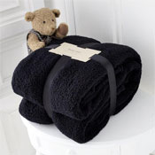 Luxurious Super Soft Teddy Throw Black
