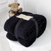 Luxurious Super Soft Teddy Throw Black