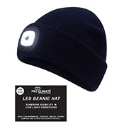 Adult Black Beanie Hat With LED
