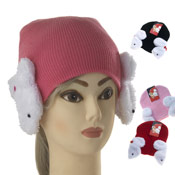 Childrens Hat with Novelty Ear Muff