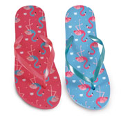 Ladies Flamingo Print Flip Flop