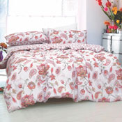 Painted Paisley Coral Duvet Set