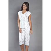 Scotty Dog Print Crop Pyjamas