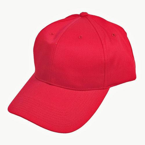 6 Panel Baseball Cap Red