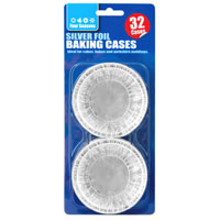 32 Pack Foil Cake Cups
