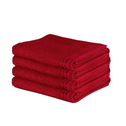 Luxury Wilsford Cotton Bath Sheet Red