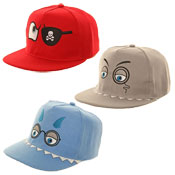 Childrens Flat Peak Novelty Baseball Caps