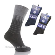Mens Non Elastic Stripe Socks