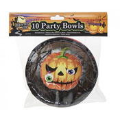 Haunted House Halloween Pumpkin Party Bowls