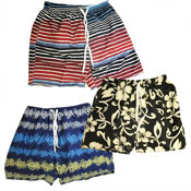 Mens Stripe Printed Shorts