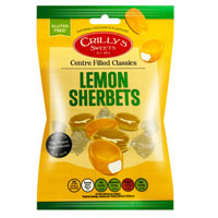 Lemon Sherbets Crillys Sweets 130g Bag