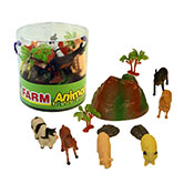 Farm Animals With Accessories In Tub