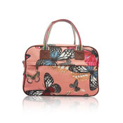 Ladies Butterfly Canvas Weekend Bag Pink