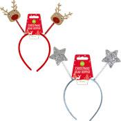 Christmas Glitter Reindeer/Star Head Bopper