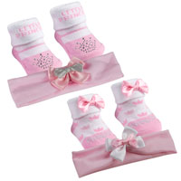 Baby Girl Little Princess Socks And Headband