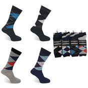 Mens Authentic Computer Socks Argyle