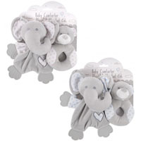 Baby Comforter And Rattle Set